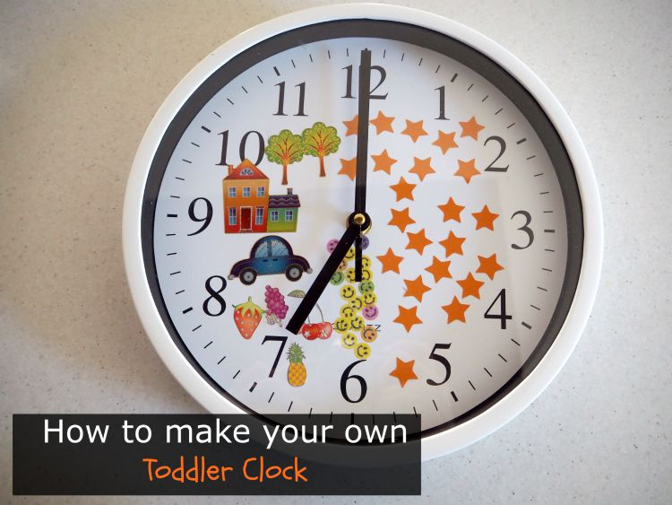 how to make your own toddler clock